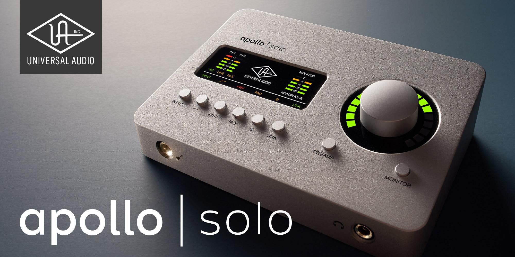 Unison機能を搭載したApolloシリーズ最小モデル『Apollo Solo』
