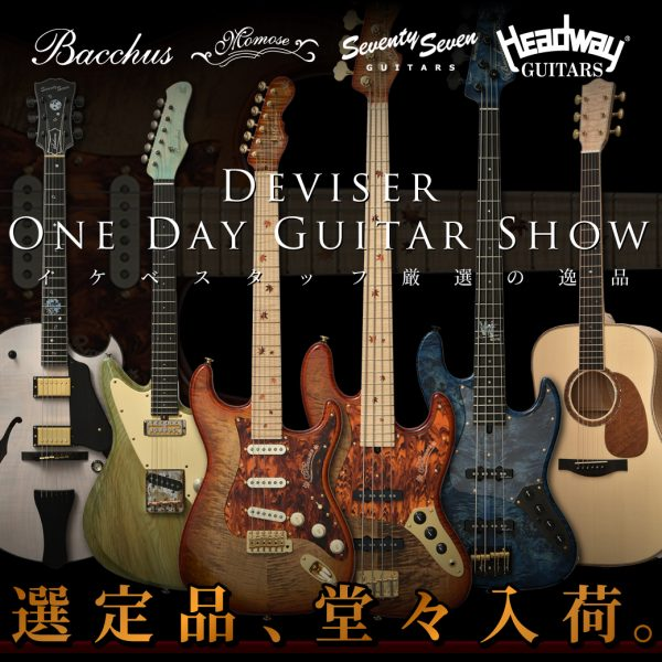 Deviser One Day Guitar Show選定品、堂々入荷!