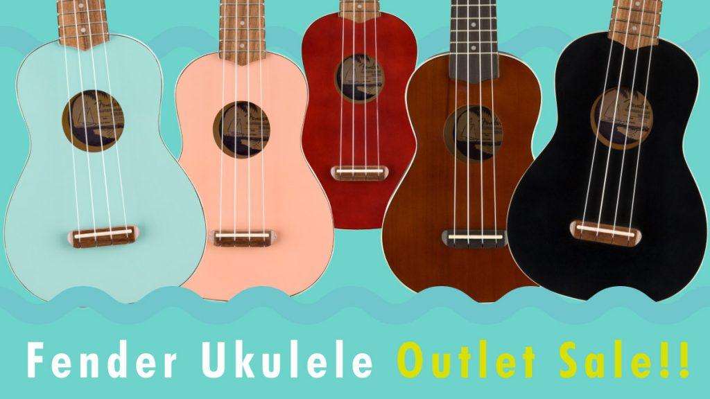 【数量限定】Fender Ukulele Outlet Sale!!