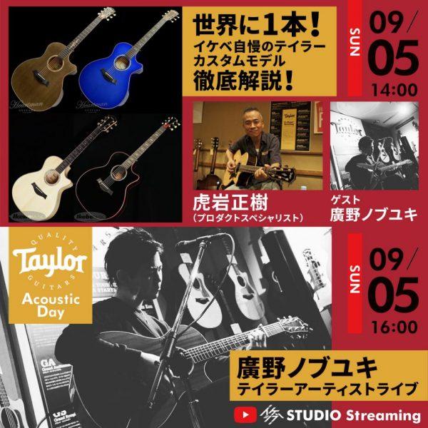 【🎥生配信】Taylor Acoustic Day
