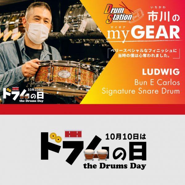 【my GEAR】ドラムステーションリボレ秋葉原・市川の「LUDWIG Bun E Carlos Signature Snare Drum」