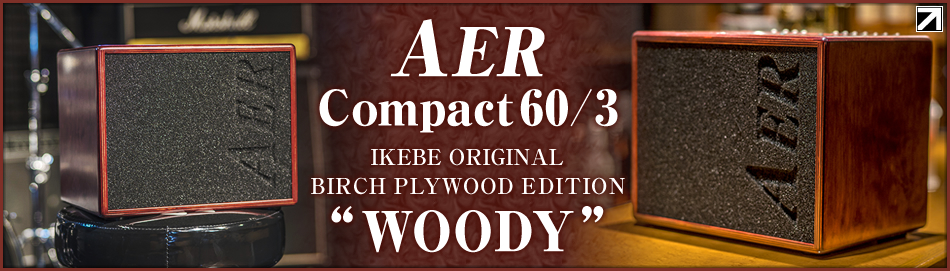 "【AER IKEBE ORIGINAL Compact60/3 BIRCH PLYWOOD EDITION ""WOODY""】"