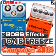 【BOSS Effects TONE FREEZE Campaign 2018】