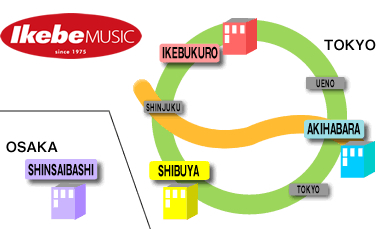 IKEBE MUSIC MAP
